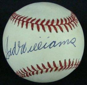 Ted Williams Single Signed Baseball, JSA