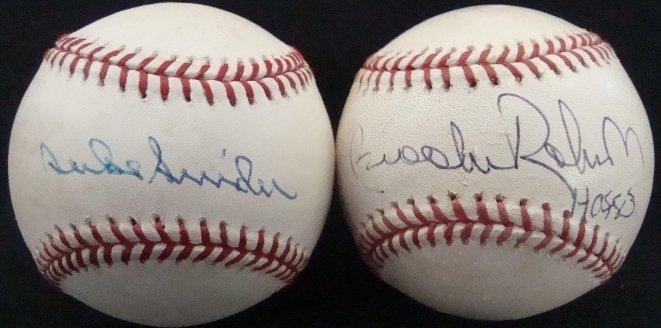 78: B Robinson, D Snider Single Signed Baseballs