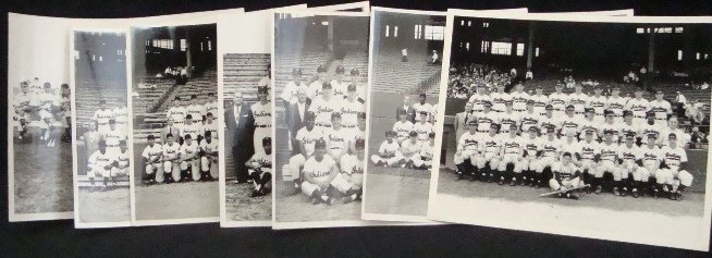 83: Lot of (7) Early Indians Real 8x10 Team Photos