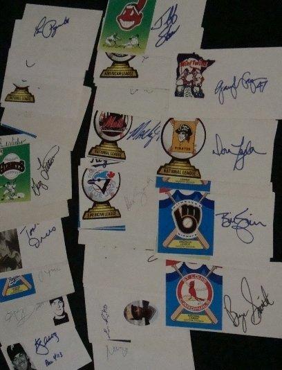 84: Lot of (76) Baseball Signature Cuts, JSA