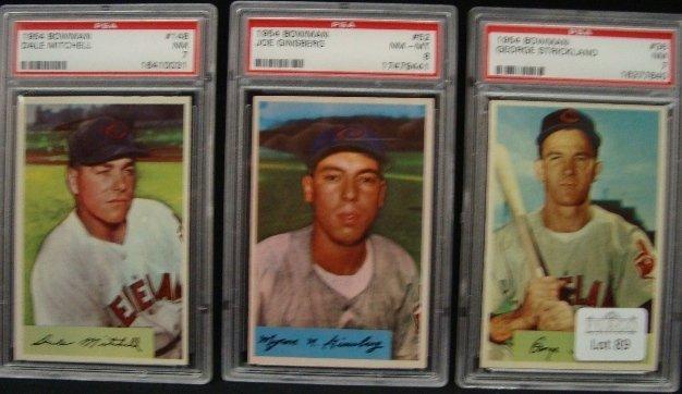 89: 1954 Bowman Baseball PSA Graded Card Lot, Stricklan