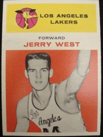 143: 1961-2 Fleer Jerry West #43 Rookie