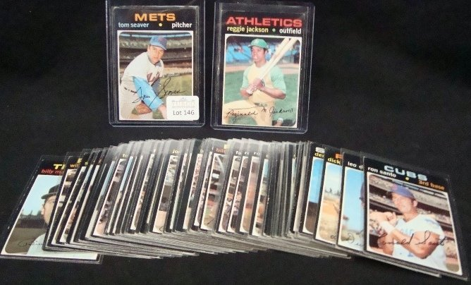 146: 1971 Topps Baseball Star Card Lot, 57 Cards