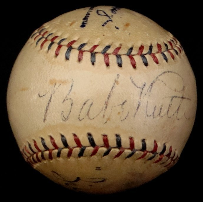 150: Babe Ruth Billy Evans Autographed Reach Ball, JSA