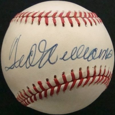 151: Ted Williams Single Signed Baseball