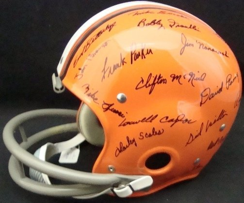 156: 1964 Cleveland Browns Team Signed Helmet, COA