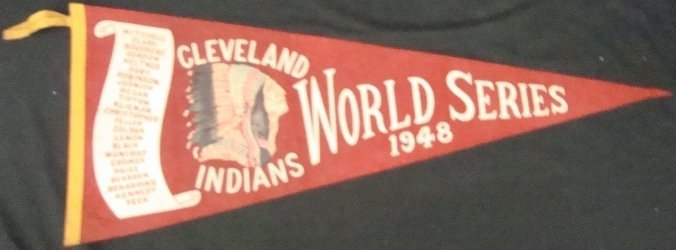 224: 1948 World Series Indians Full Size Pennant