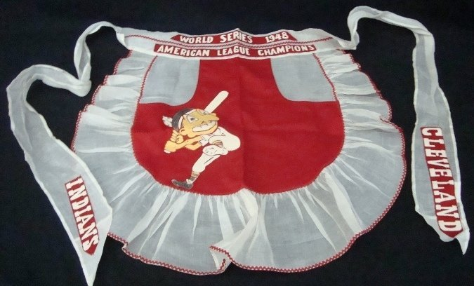 225: 1948 World Series Cleveland Indians Apron