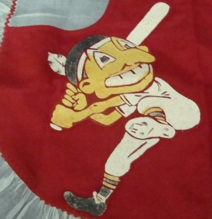225: 1948 World Series Cleveland Indians Apron - 3