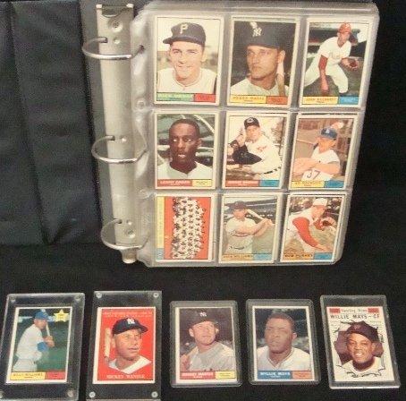 267: 1961Topps Baseball Partial Set, Mantle