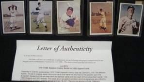 290: 1979 TCMA Baseball Signed Cards, (5) w Kubek