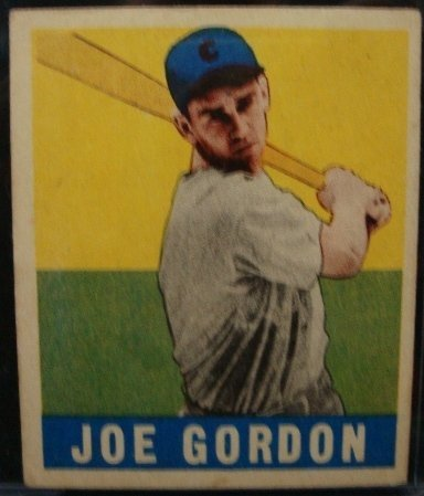 139A: 1949 Leaf Joe Gordon #117, EX
