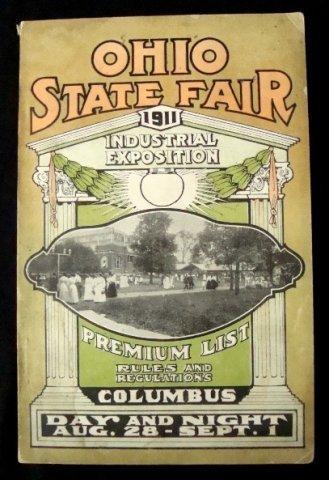 22: 1911 Ohio State Fair Premium List and Handbook