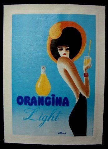 262: Original French Advertising Poster for Orangina Li