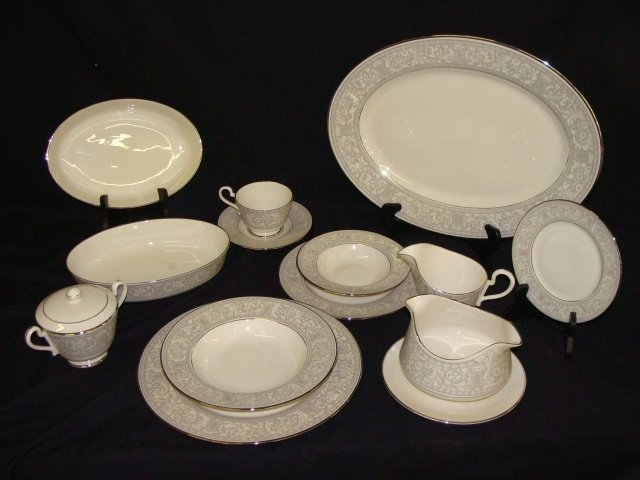 396: Platinum Renaissance Franciscan China 65 Piece Set