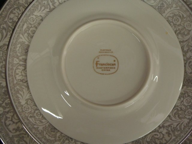 396: Platinum Renaissance Franciscan China 65 Piece Set - 3