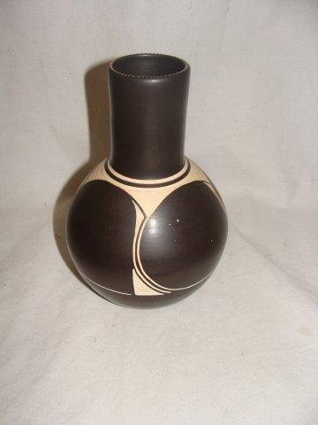 86: Mohawk Talking Earth Pottery Vase by Steve Smith