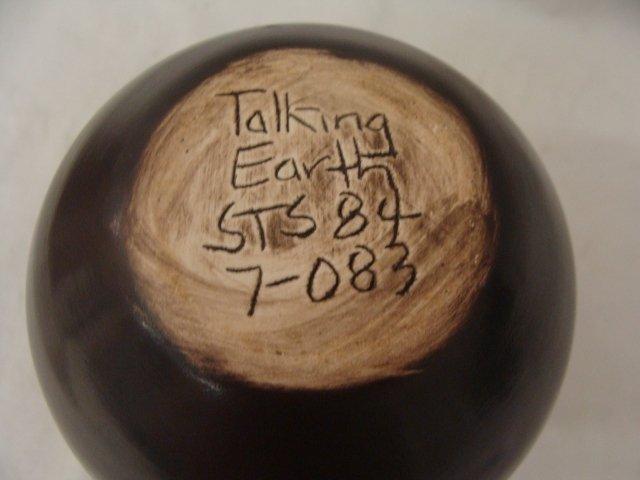 86: Mohawk Talking Earth Pottery Vase by Steve Smith - 3
