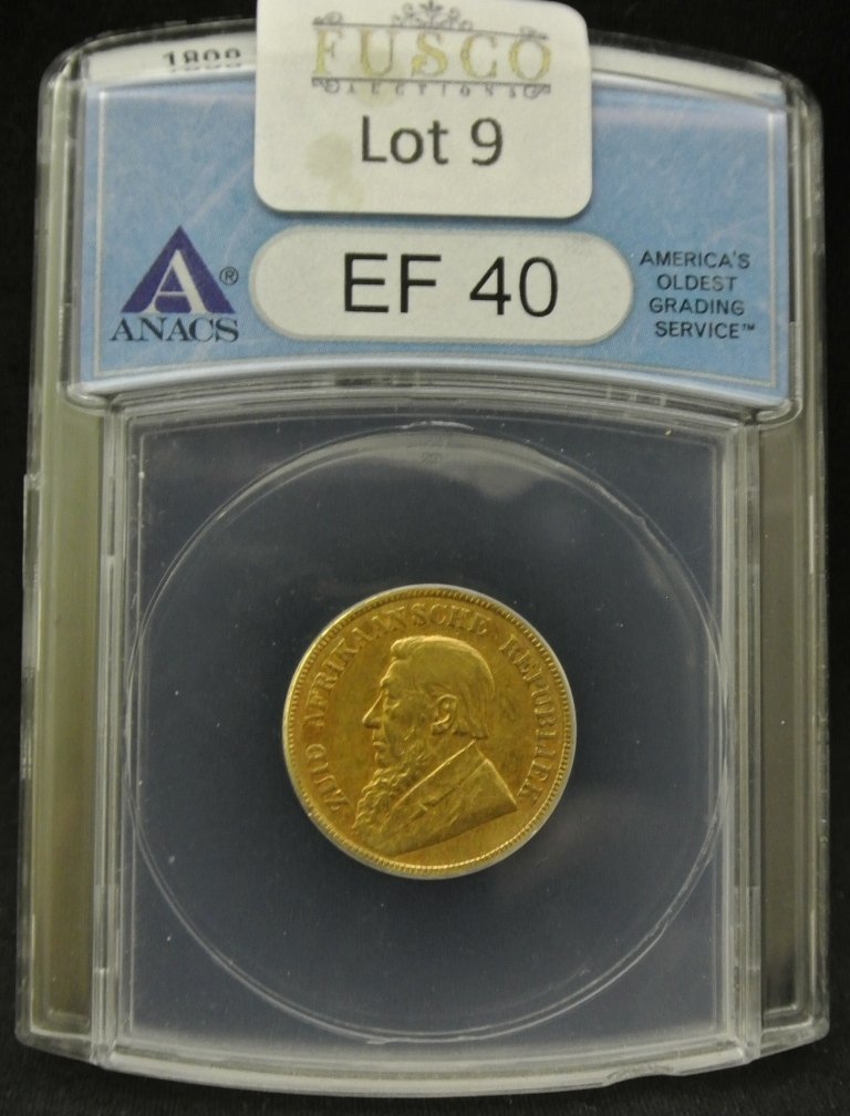 9: 1898 South Africa Gold Pond ANACS EF40