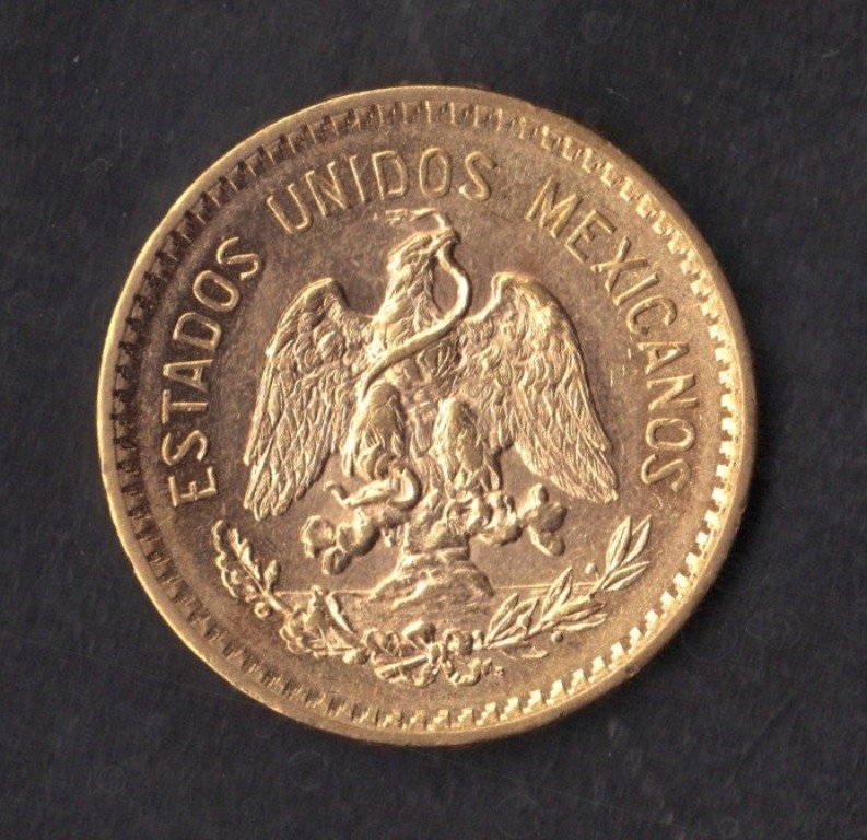 81: 1905 Mexico 10 Peso Gold Coin - 2