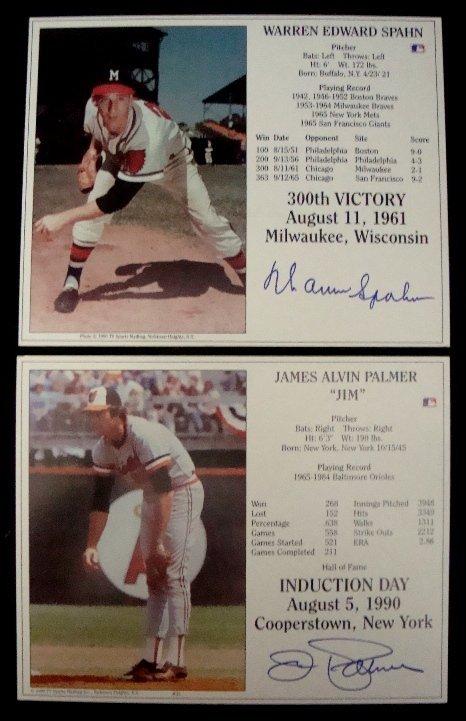 3: Jim Palmer Warren Spahn Signed HOF Induction Day Pan