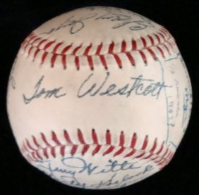 1950 Houston Buffaloes Team Signed Baseball