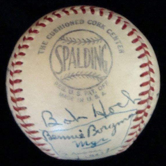 11: 1950 Houston Buffaloes Team Signed Baseball - 2