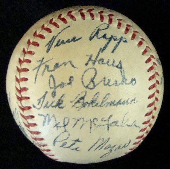 11: 1950 Houston Buffaloes Team Signed Baseball - 3