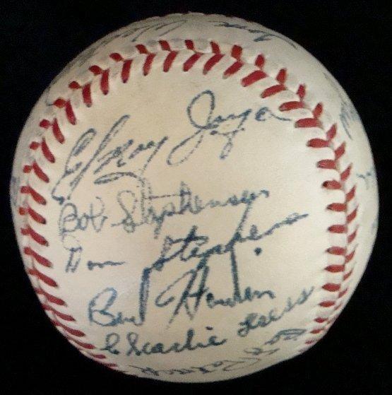 11: 1950 Houston Buffaloes Team Signed Baseball - 4