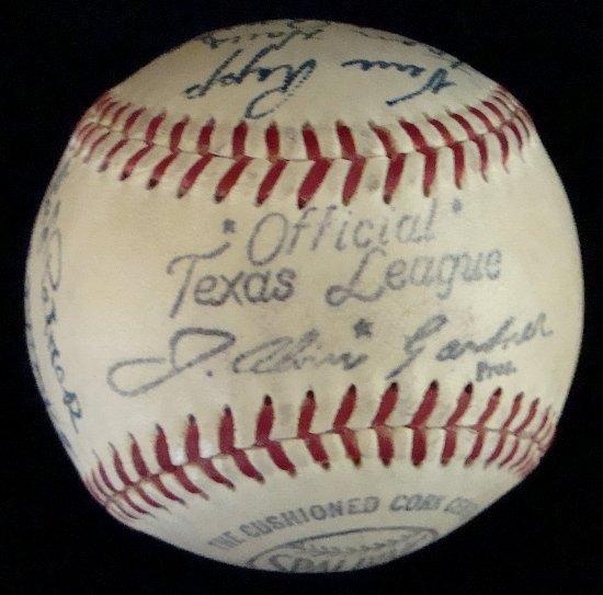 11: 1950 Houston Buffaloes Team Signed Baseball - 6