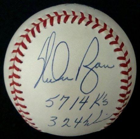 12: Nolan Ryan Single Signed Stat Ball