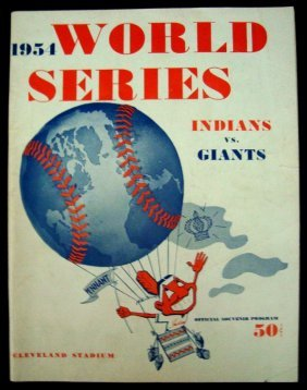 14: 1954 World Series Official Program & Ticket, Indian