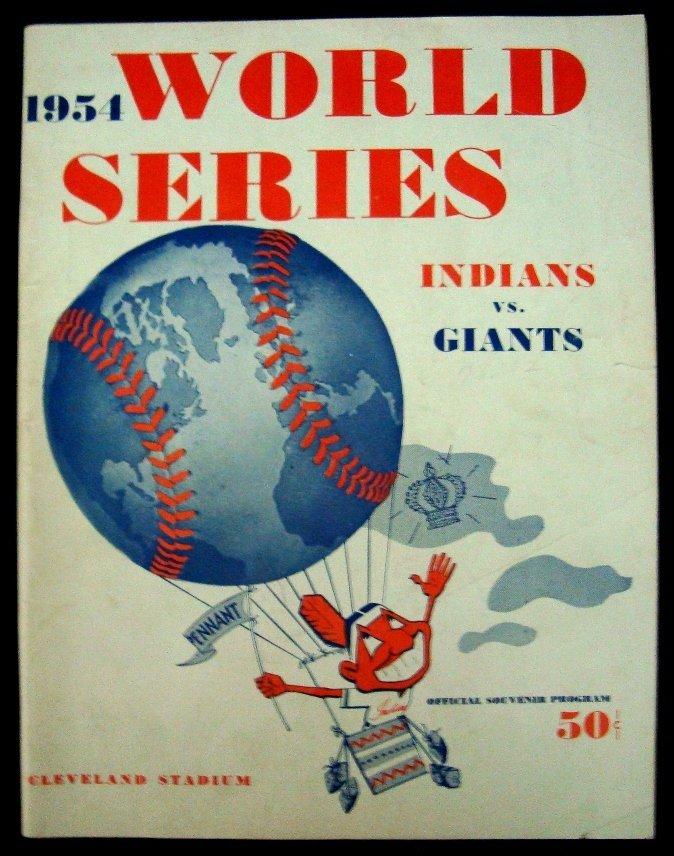 14: 1954 World Series Official Program & Ticket, Indian