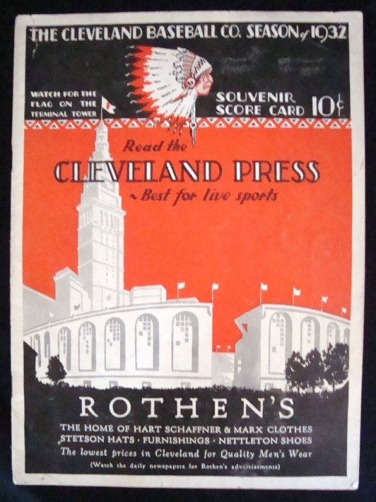 16: 1932 Cleveland Indians Official Score Card