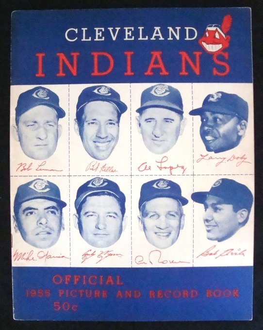 19: 1955 Cleveland Indians Picture & Record Book