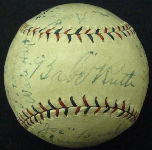137: 1924 Yankees Team Signed Ball, 23 w Ruth