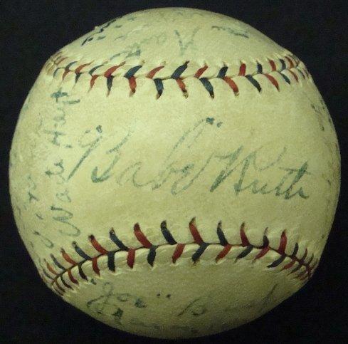 137: 1924 Yankees Team Signed Ball, 23 w Ruth