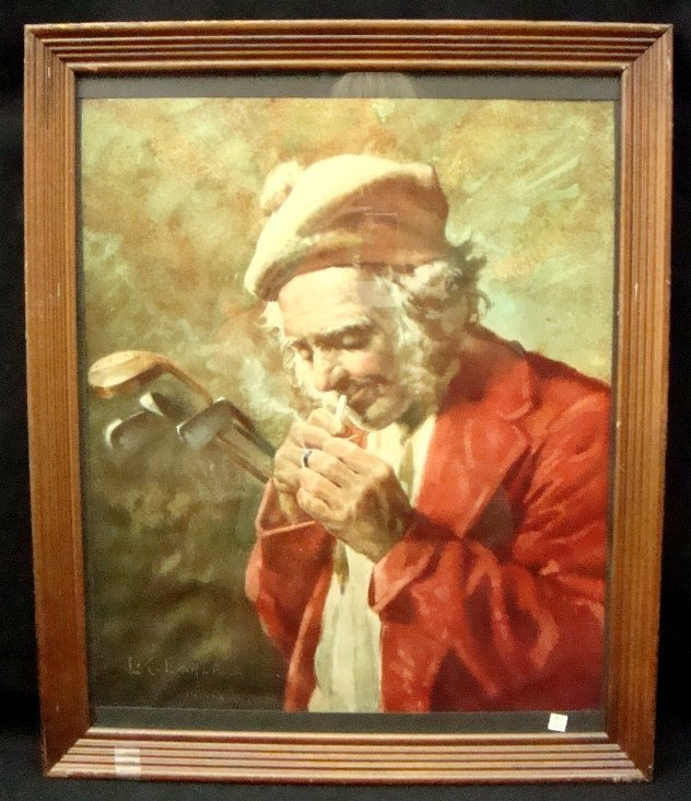 158: L.C. Earle (1845-1921) Framed Golfer Print
