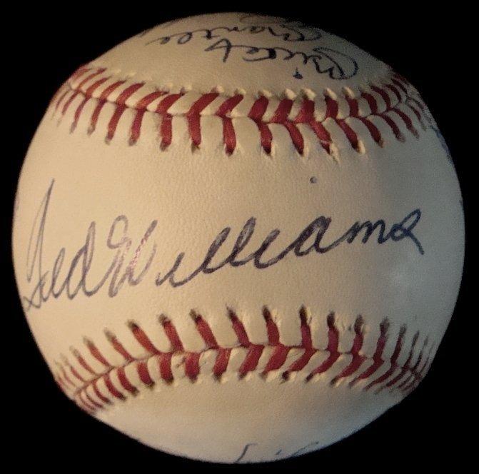 281: 500 Home Run Club Multi-Signed Ball, (11) Mantle,