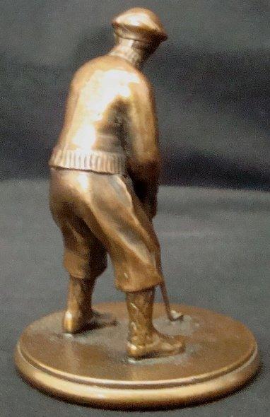 163A: Vintage Bronze Golfer Statue - 3