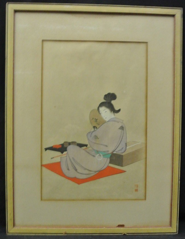 10: (3)Japanese Color Engravings
