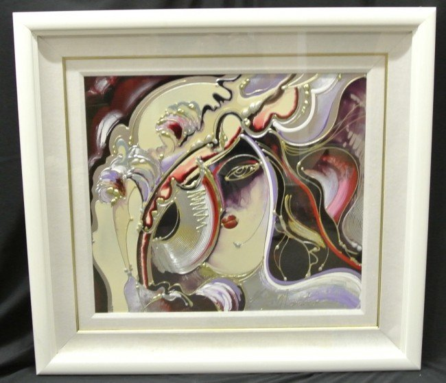 "14: M.Martino ""Veil of Secrecy"" Oil & Acrylic on Boar"