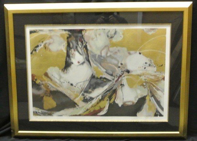 16: Framed Modern Art Print Signed & Numbered