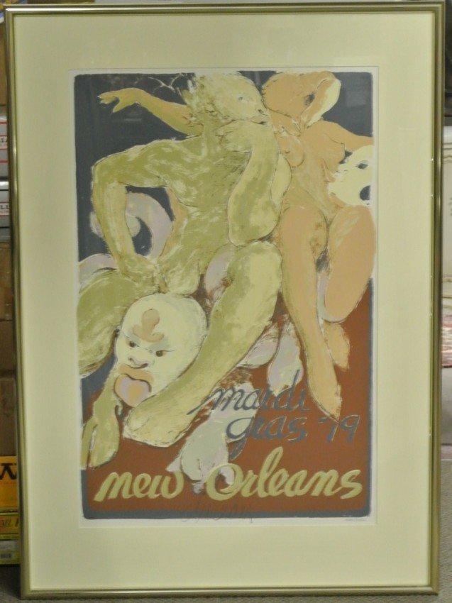 17: George Dureau '79 Mardi Gras New Orlean silkscreen