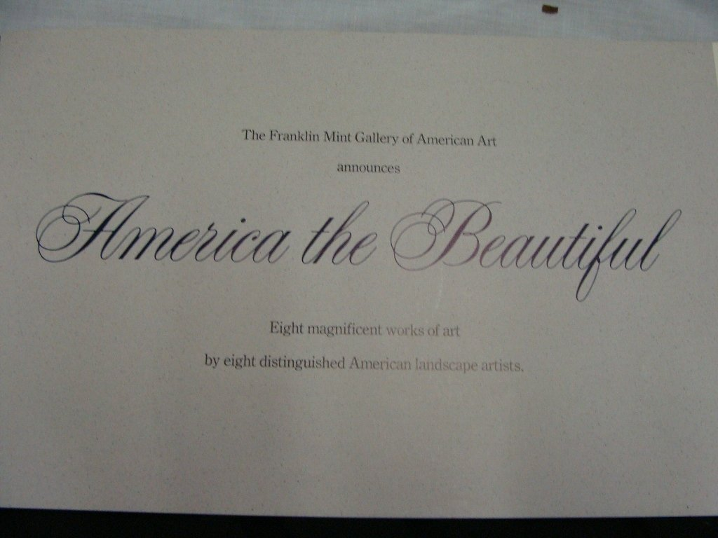 339: Franklin Mint Gallery AMERICA THE BEAUTIFUL Portfo - 2
