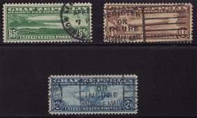 150: U.S.Scott C13-C15 VF Used Graf Zeppelin Set SCV.$1