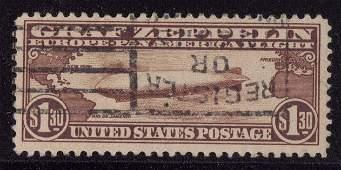 151: U.S. Scott C14 F-VF Used Graf Zeppelin SCV.$375