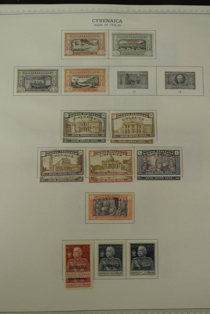 356: Cyrenaica Unused Used Stamp Collection - 2