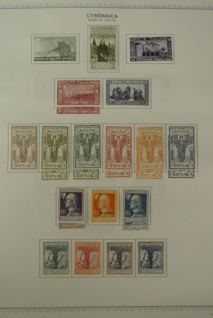 356: Cyrenaica Unused Used Stamp Collection - 3