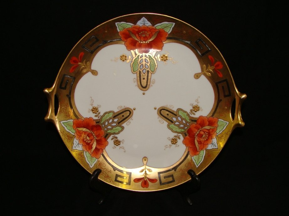 7: Pickard Art Nouveau Cake Plate signed Efdon
